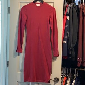 Lovers and Friends Red sweater dress